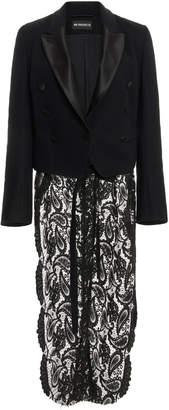 Ann Demeulemeester Detailed Cotton & Wool Cropped Blazer