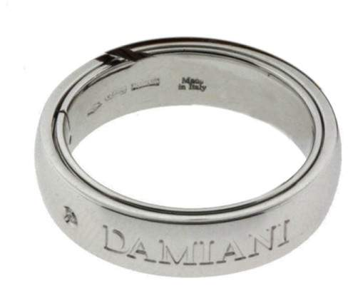 Damiani 18K White Gold & 0.02ct Diamond Ring Sz 9.75