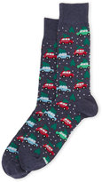 Hot Sox Trees on Cars Crew Socks