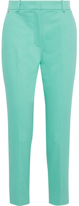 Emilio Pucci Cropped Cotton-blend Twill Slim-leg Pants