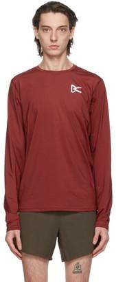 District Vision Burgundy Air-Wear Long Sleeve T-Shirt