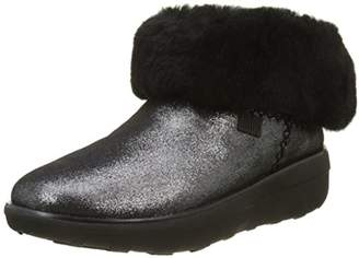 FitFlop Women's Mukluk Shorty 2 Shimmer Boots Ankle (Black), (41 EU)