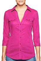 Mng by Mango® Purple Knit Inset Shirt