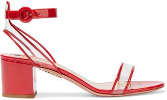 Aquazzura Minimalist 50 Patent-leather And Pvc Sandals