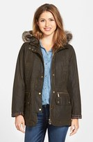 Barbour Women's 'Kelsall' Faux Fur & Faux Shearling Trim Waxed Cotton Parka