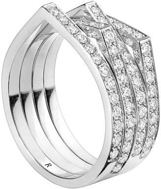 Repossi 18kt white gold Antifer diamond ring