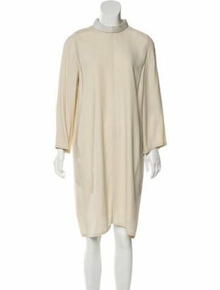 Rick Owens 2018 Knee-Length Shift Dress beige