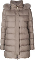 Herno fur lined hood padded coat - women - Feather Down/Fox Fur/Polyester/Goose Down - 40