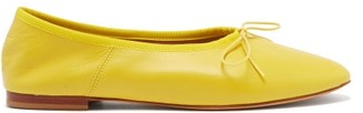 Mansur Gavriel Dream Leather Ballet Flats - Womens - Yellow
