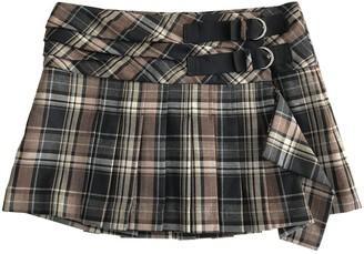Pinko Brown Wool Skirt for Women