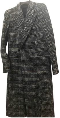 Bally Blue Tweed Coat for Women
