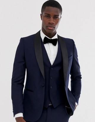 French Connection occasion slim fit tuxedo suit jacket