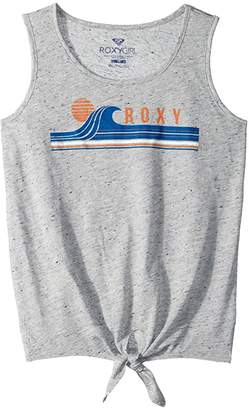 Roxy Kids Surf Tie Front Tank (Big Kids) (Heritage Heather) Girl's Clothing
