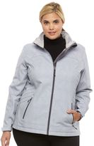 Free Country Plus Size Hooded Trapunto Soft Shell Jacket
