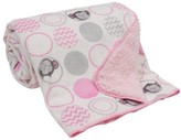 Bedtime Originals Lambs & Ivy Velour Sherpa Blanket - Pinkie