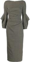 Talbot Runhof cut-out long dress