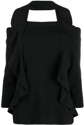D-Exterior Cold Shoulder Top