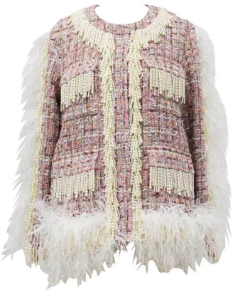 Huishan Zhang Cecil Feather-Trim Jacket