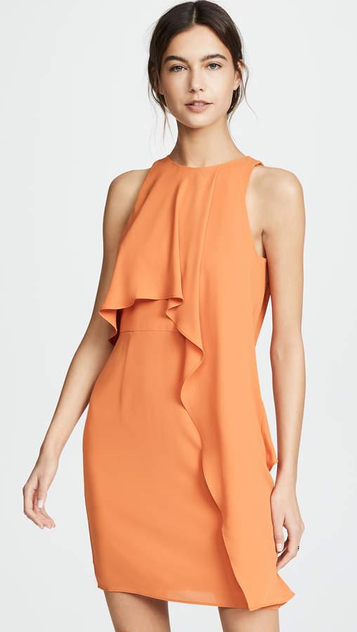 Halston Sleeveless High Neck Dress