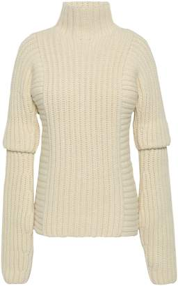 Victoria Beckham Ribbed Alpaca And Wool-blend Turtleneck Sweater