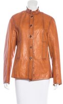 Jil Sander Button-Up Leather Jacket
