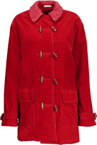 Tomas Maier Faux Shearling-Lined Cotton-Corduroy Coat