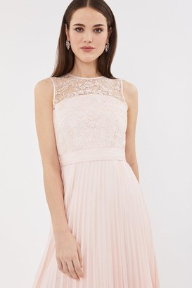 Coast Lace Bodice Pleat Skirt Midi Dress