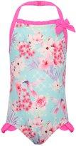 M&Co Minoti floral bow halter neck swimsuit