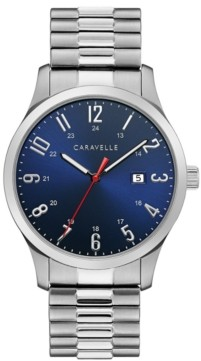 Caravelle Designed by Bulova Men's Stainless Steel Bracelet Watch 40mm