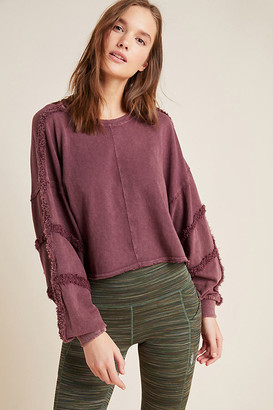 Free People Movement Magnolia Sweatshirt By Movement in Purple Size M