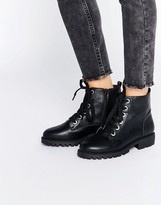 London Rebel Grosgrain Lace Up Boots