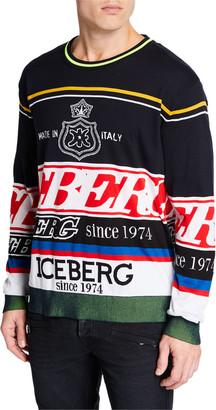 Iceberg Men's Logo Knit Crewneck Sweater