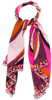 Emilio Pucci Virgin Wool Patterned Scarf