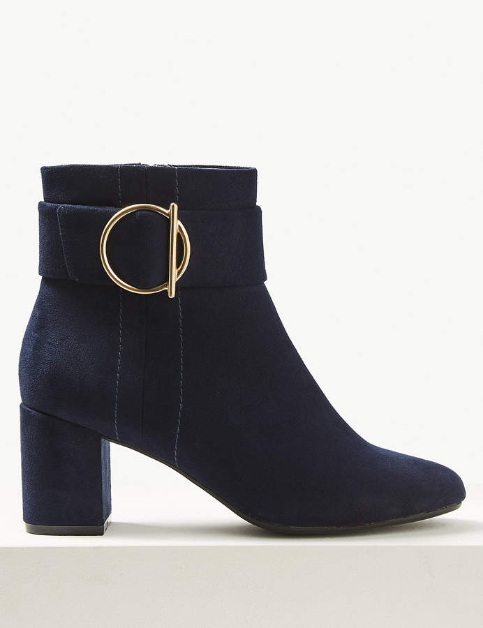 fad692049fe0f Navy Block Heel Boots - ShopStyle UK
