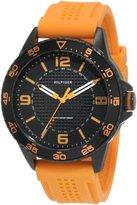 Tommy Hilfiger Men's 1790837 Sport Black IP Case with orange silicon strap Watch