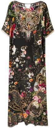 Camilla Printed Silk Kaftan Dress