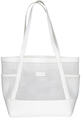 Mocha Summer Beach Bag - White