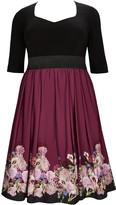 Evans **Scarlett & Jo Black Sweetheart 2-in-1 Dress