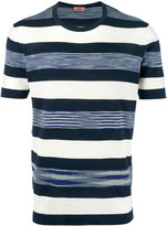 Missoni Blue and White Striped t shirt