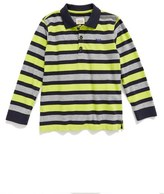 Armani Junior Long Sleeve Stripe Polo (Little Boys & Big Boys)