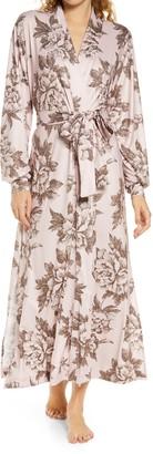 Mason Grey Floral Print Long Robe