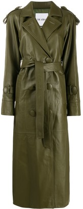 ATTICO Double-Breasted Trench Coat