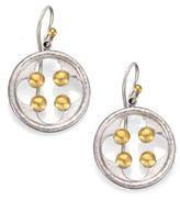 Gurhan Cloister 24K Yellow Gold & Sterling Silver Quatrefoil Drop Earrings