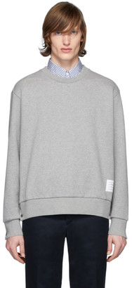 Thom Browne Grey RWB Stripe Sweatshirt