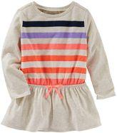 Osh Kosh Girls 4-8 Dolman Long Sleeve Striped Tunic