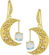 Indulgems Celestia Opalite Moon Drop Earrings