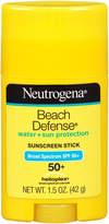 Neutrogena Beach Defense Water + Sun Barrier Stick Sunscreen Broad Spectrum SPF 50+