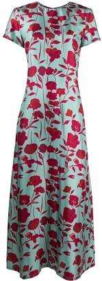La DoubleJ Shortsleeved Floral Swing Dress