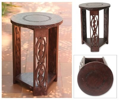 Thumbnail for your product : World Menagerie Severina I Fear Only God Wood End Table