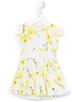 Blumarine floral print dress - kids - Cotton/Spandex/Elastane/Polyamide - 12 mth